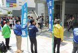 人通りも賑やかなGW初日に名古屋駅前で