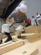 四方転び踏み台を作製する藤本幹事