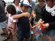 昨年開催したマテ貝採り