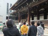 昨年度は修復工事中の東本願寺を見学