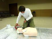 AEDを使い腎臓マッサージ