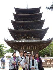 昨年の見学会にて(奈良・興福寺)