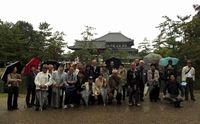 昨年の研修会の様子(奈良・東大寺)