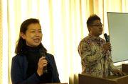 壁谷主婦の会会長(左)・佐々木青年部長