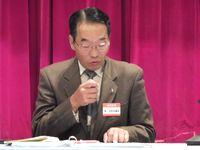 円滑な進行で会議を取り仕切った、松山社会保障対策部長