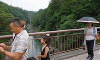 天龍峡をウォーキング