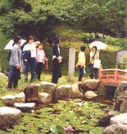 岩村城跡を散策しています