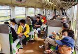 長良川鉄道車内の様子