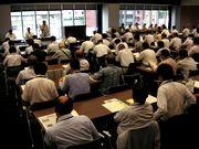 現行補助水準確保に向け参加者へ訴える田村委員長