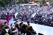 昨年11月21日、全国の仲間5,074人が日比谷公園大音楽堂へ集まった中央総決起大会