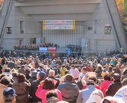 昨年11月20日、全国の仲間4,899人が日比谷公園大音楽堂へ集まった中央総決起大会