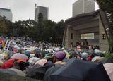 昨年11月25日悪天候の中、全国の仲間5,310名が集結(中央総決起大会/日比谷公園大音楽堂)