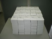 集約されたハガキ25,324枚