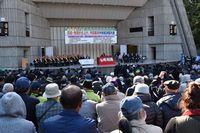 昨年11月20日、全国の仲間が集まり中央総決起大会が行われました(東京・日比谷公園大音楽堂)