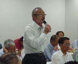 組合を大表して山田労対部長がお礼と報告